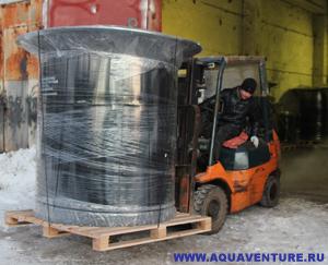 Отгрузка упакованного фильтра ФОПС®-МУ-2,0-1,8 автопогрузчиком.